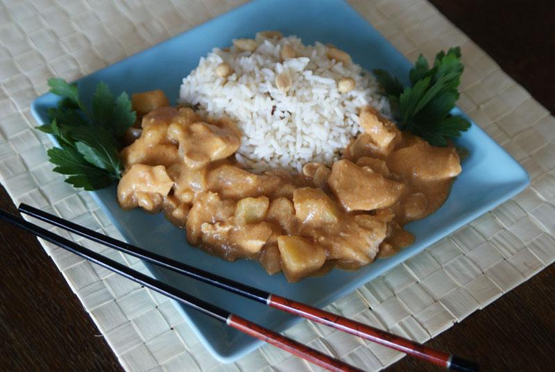 Massaman Curry mit Erdnüssen (Slowcooker-Rezept)